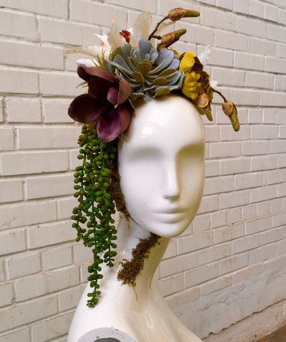 Floral & Succulent Mannequin Head Display: DIY Tutorial
