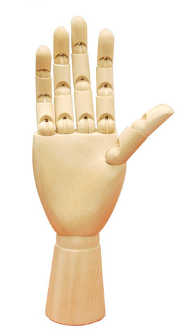 Wooden Articulated Male Hand -- LEFT or RIGHT