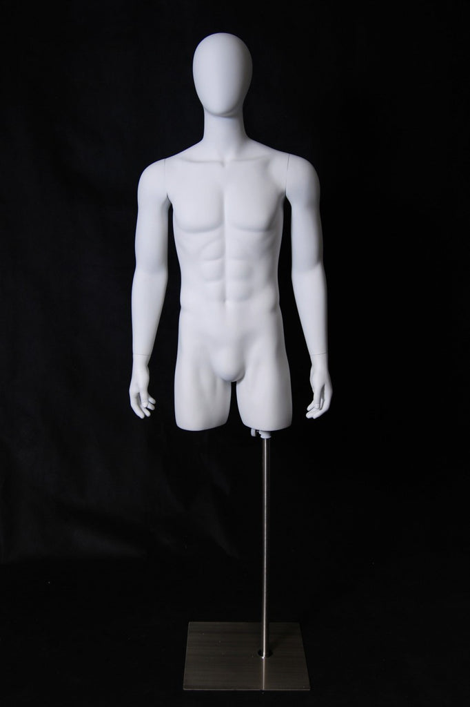 Egghead Male Torso with Head and Arms
