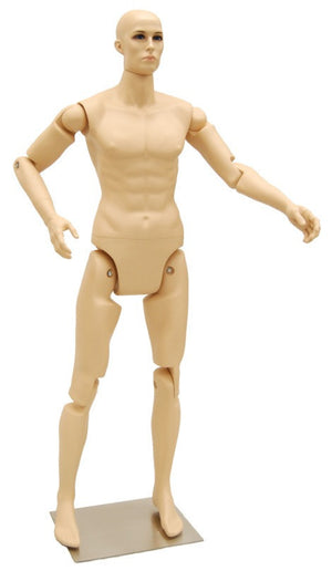 Articulated Male Mannequin -- Fleshtone