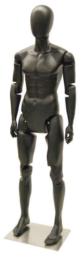 Articulated Egghead Male Mannequin #1: Black