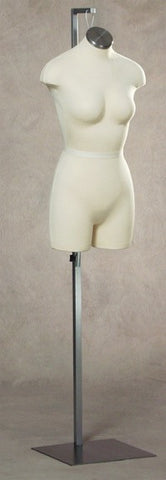 Size 2: Hanging 3/4 Female Cloth Torso with Stand