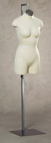 Size 8: Hanging 3/4 Female Cloth Torso with Stand