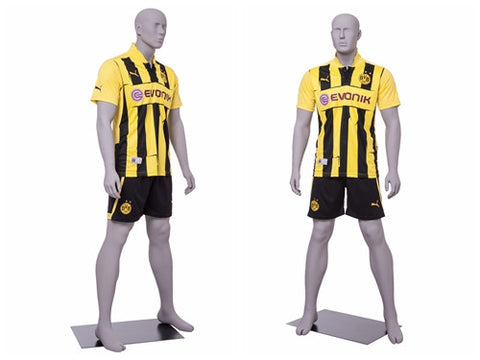 Soccer Playing Male Mannequin 1: Matte Light Grey