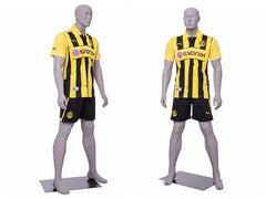 Sports: Male Soccer Mannequin 1 -- Matte Light Grey