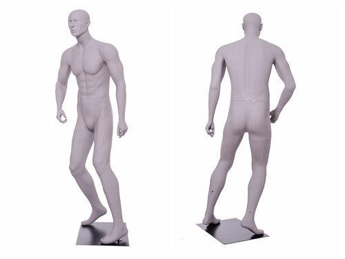 Soccer Playing Male Mannequin 2: Matte Light Grey