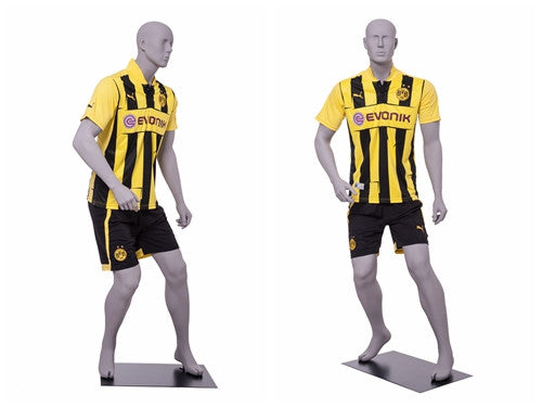 Sports: Male Soccer Mannequin 2 -- Matte Light Grey