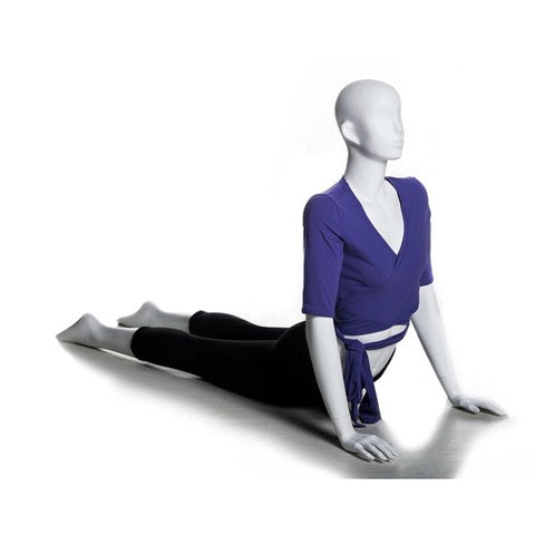 Yoga Egghead Female Mannequin in HOLDING UP Pose: Pearl White