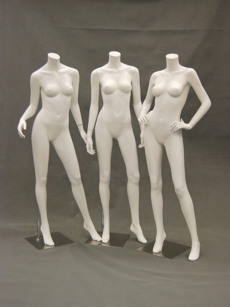 Frances 2: Headless Female Mannequin: Matte White
