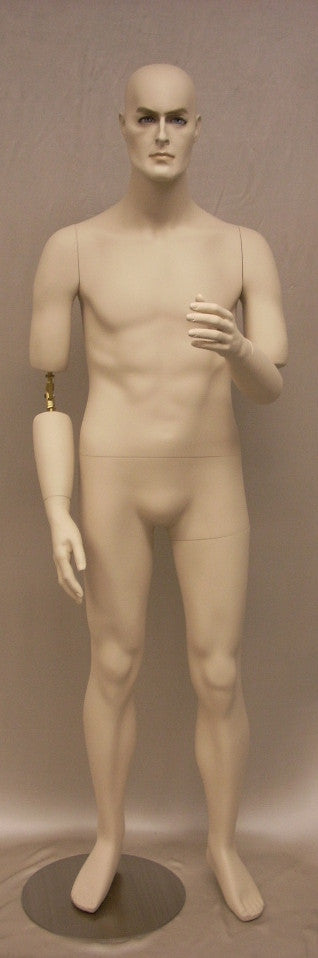 Rugged Male Mannequin with Bendable Arms -- Short Stature