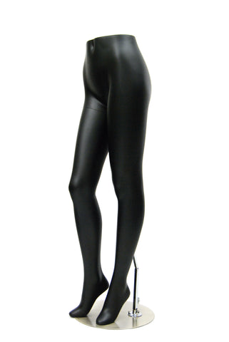 Female Mannequin Pant Leg Form: Semi-Matte Black