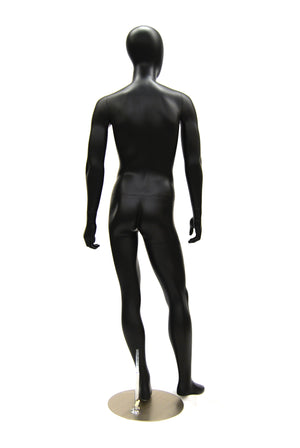 Alan 2: Egghead Male Mannequin in Satin Black