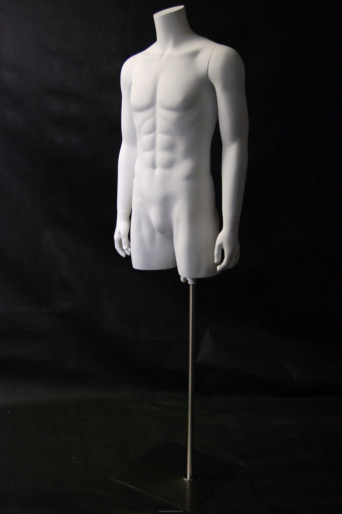 Headless 3/4 Male Torso with Arms on a Stand