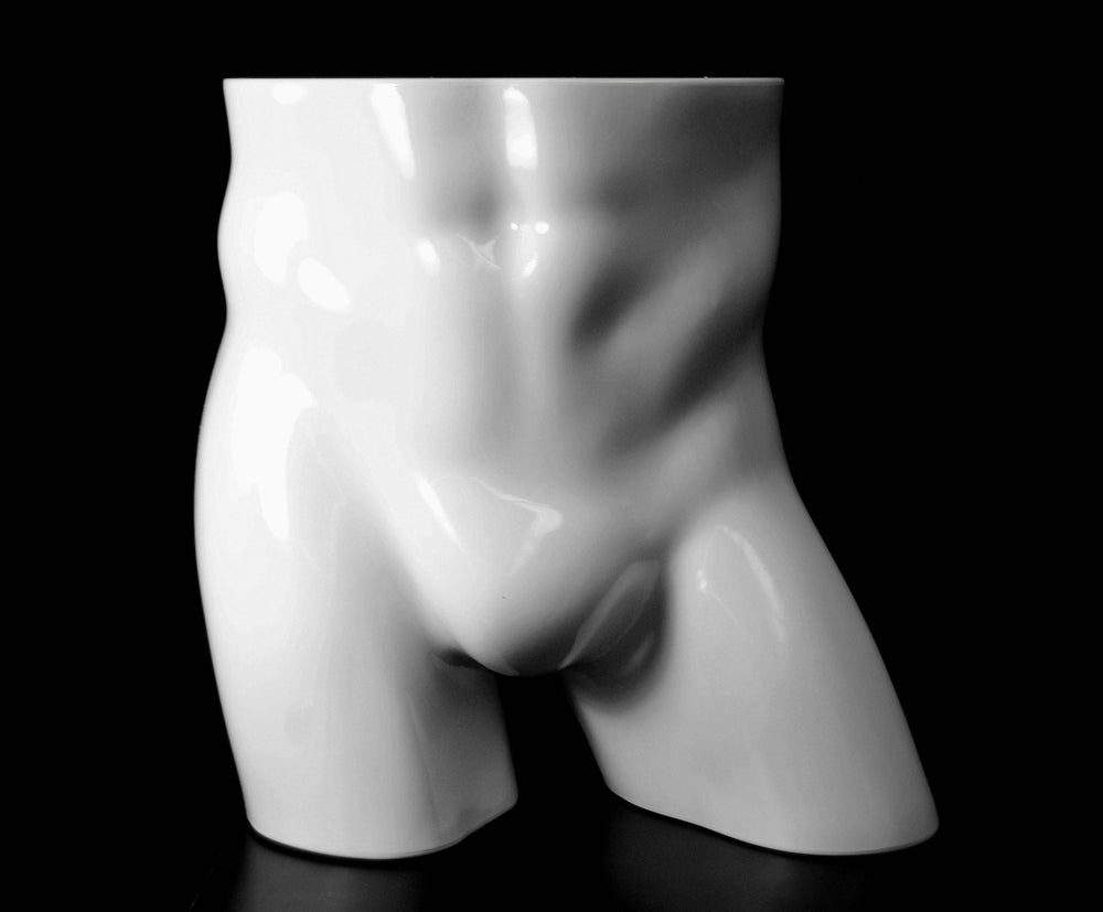 Male Butt Plastic Form: Glossy White #3