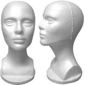 Female Styrofoam Mannequin Head #3: Set of 5