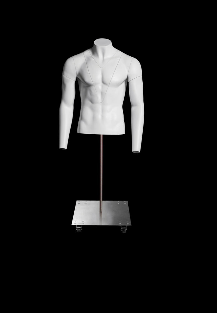 Ghost Male Mannequin 1/2 Torso