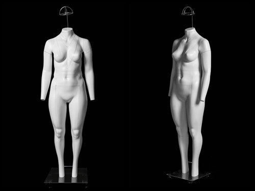 "Plus Size Female ""Ghost"" Mannequin Deluxe Version with Non-Rotating Base"