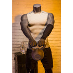 Athletic Headless Male Mannequin Holding Kettlebell