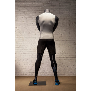 Athletic Egghead Male Mannequin Holding Kettlebell