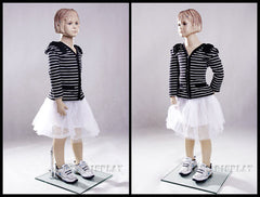 Child Mannequin: Girl in a Standing Pose 3 or 4 year old
