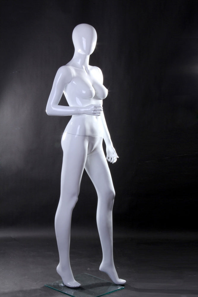 Lisa: Female Egghead Mannequin 1: Glossy White