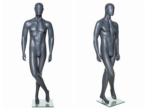 Abstract Male Mannequin in Standing Pose 1 -- Grey