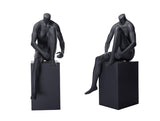 Sports Headless Female Mannequin Tying Her Shoe: Matte Black