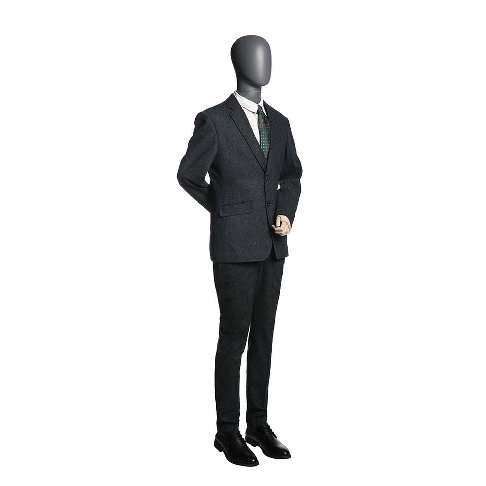 Egghead Male Full Body Mannequin with Wooden Arms 5: Matte Grey