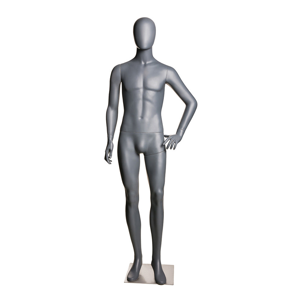 Egghead Male Full Body Mannequin 3: Matte Grey