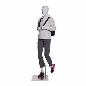 Hiking Egghead Female Mannequin 2: Glossy White