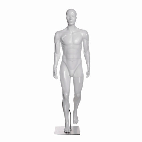 Hiking Egghead Male Mannequin 1: Glossy White
