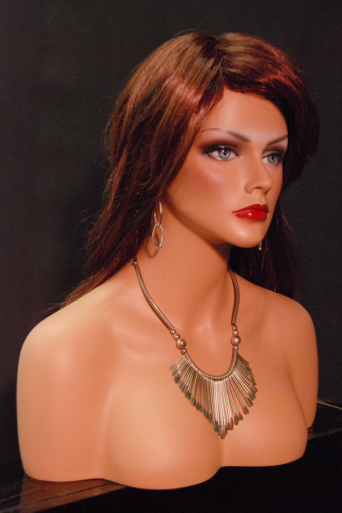 Megan: Female Mannequin Head with Partial Chest
