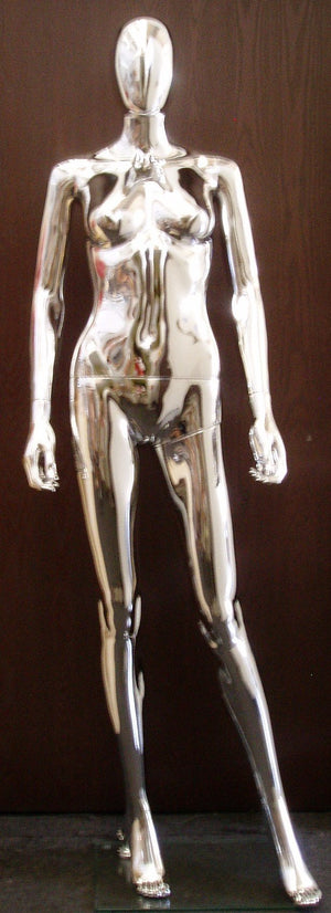 Egghead Female Mannequin 2: Chrome