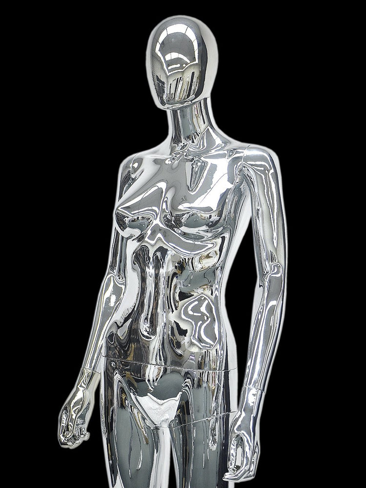 Egghead Female Mannequin 3: Chrome