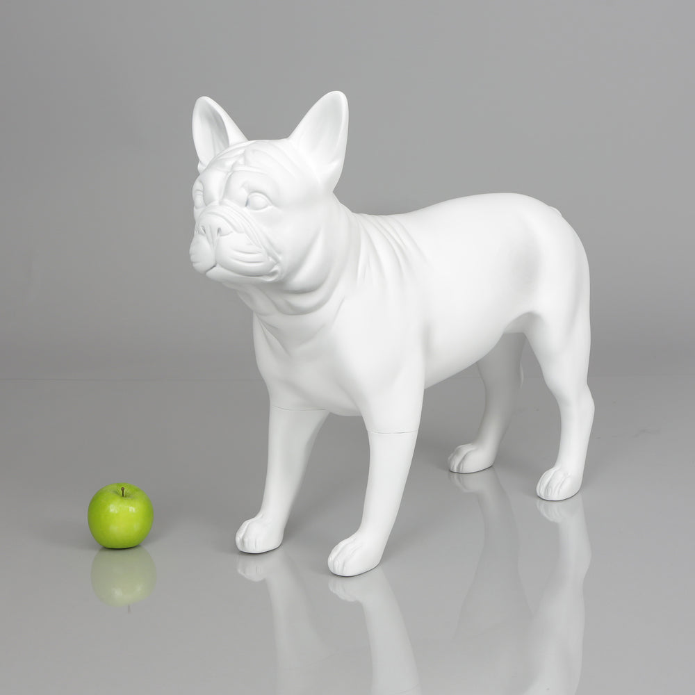 French Bulldog Mannequin: Matte White