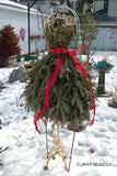 Traditional Dress Form Christmas Tree with Live Pine Branches -  DIY Tutorial