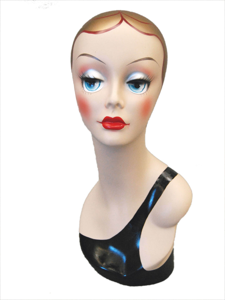Vintage Style Mannequin Head with Painted Face 3
