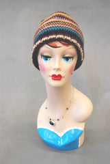 Vintage Style Mannequin Head with Painted Face 2