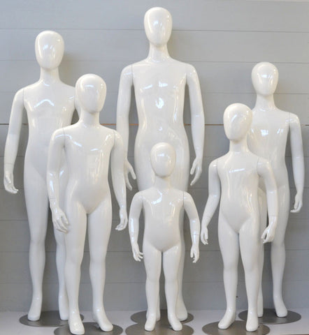 2 Year to 12 Year Old Child Mannequin Group (6 Mannequins)