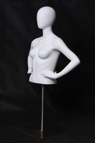 Female Bust Form with Head and Hands on Hips