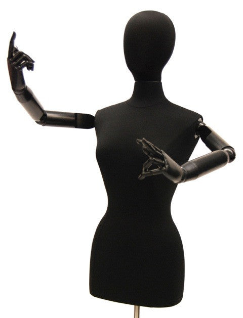 Articulated Female Dress Form -- Black