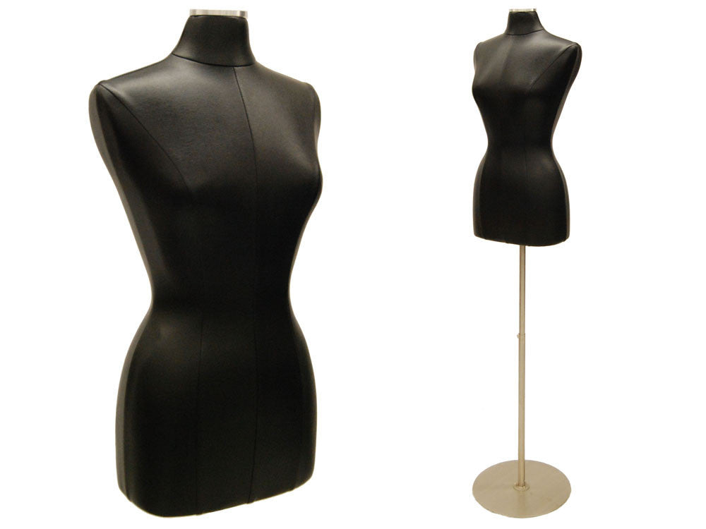 Leather Female Dress Form: Black