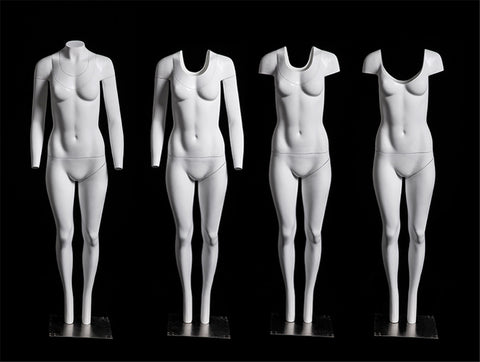 "Female ""Ghost"" Mannequin: Round Neck"