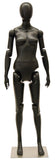 Articulated Egghead Female Mannequin: Black