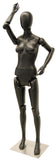 Articulated Egghead Female Mannequin -- Black