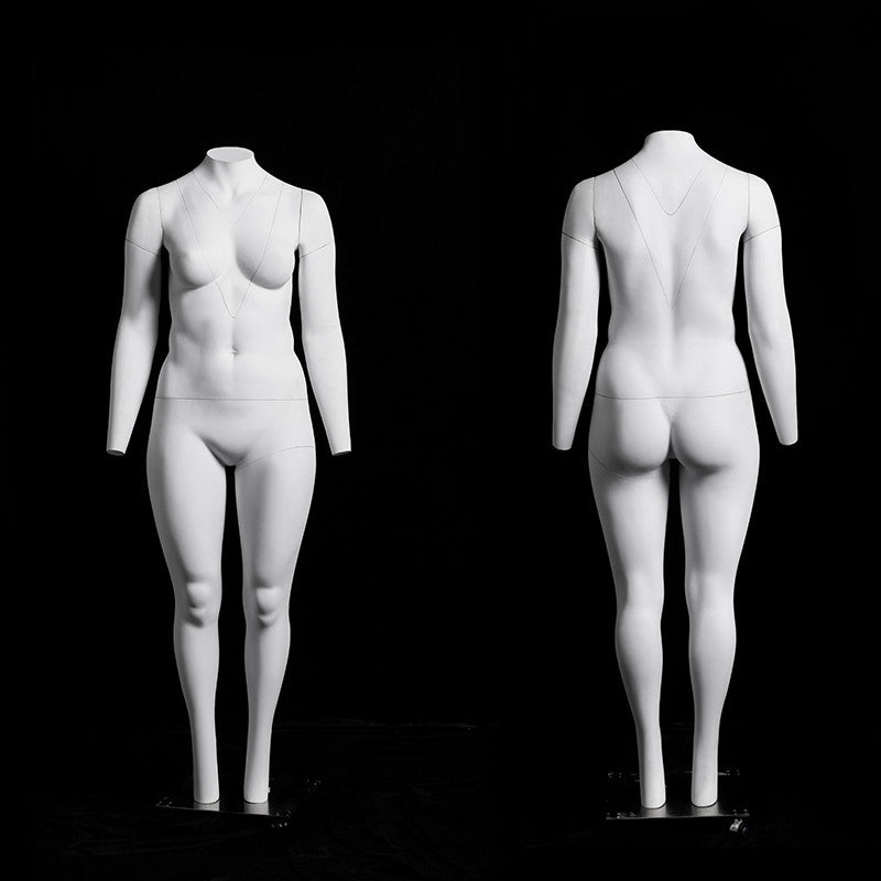 "Plus Size Female ""Ghost"" Mannequin  with V-Neck"
