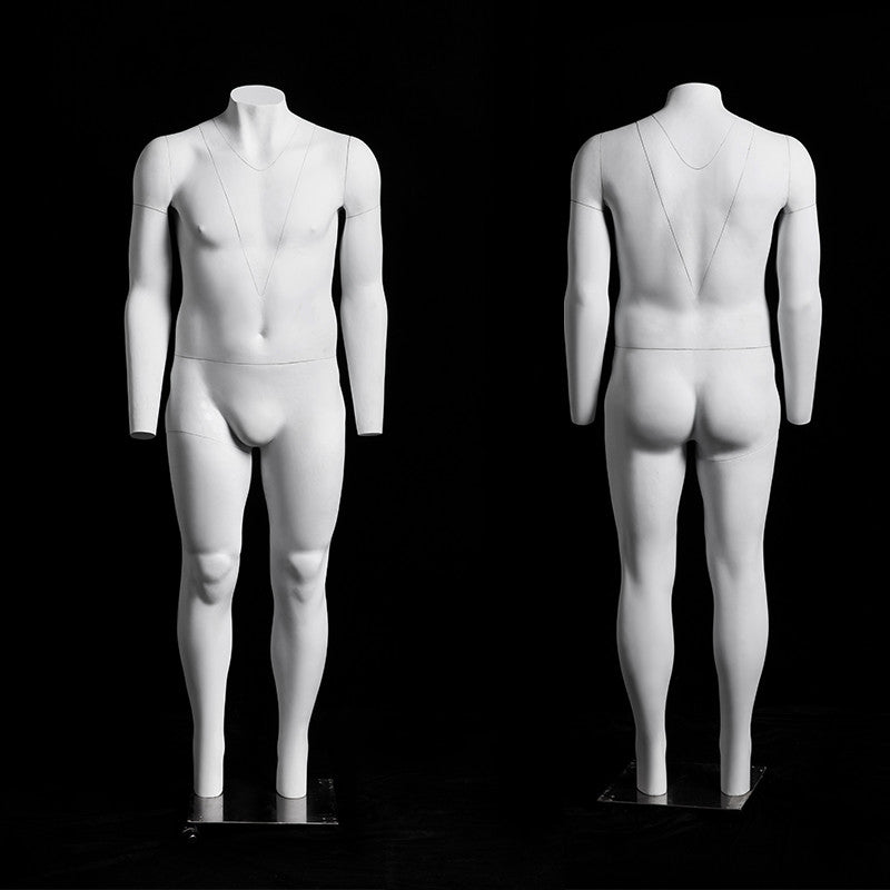 "Big & Tall Male ""Ghost"" Mannequin with V-Neck"