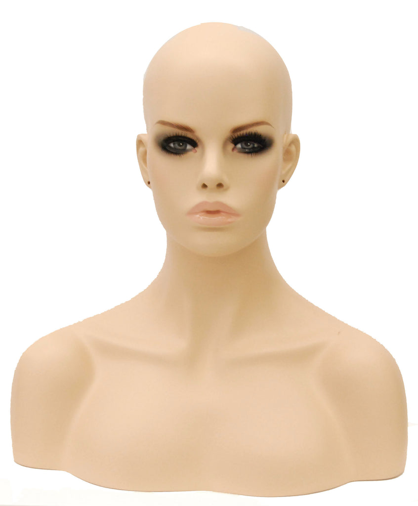 Mariah: Female Mannequin Head with Pierced Ears