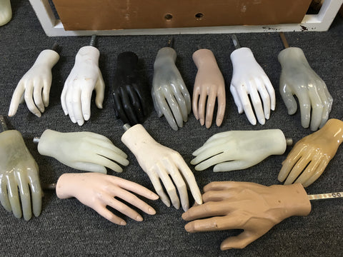 Used Mannequin Hands - Set of 4