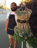 DIY Tutorial: Burlap & Succulents on a Wire Dress Form